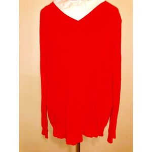 Uniqlo Red Lightweight Sweater, Size L